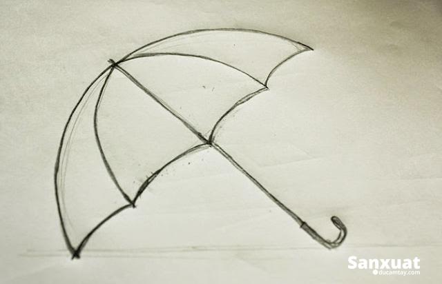 cách vẻ hình chiếc dù