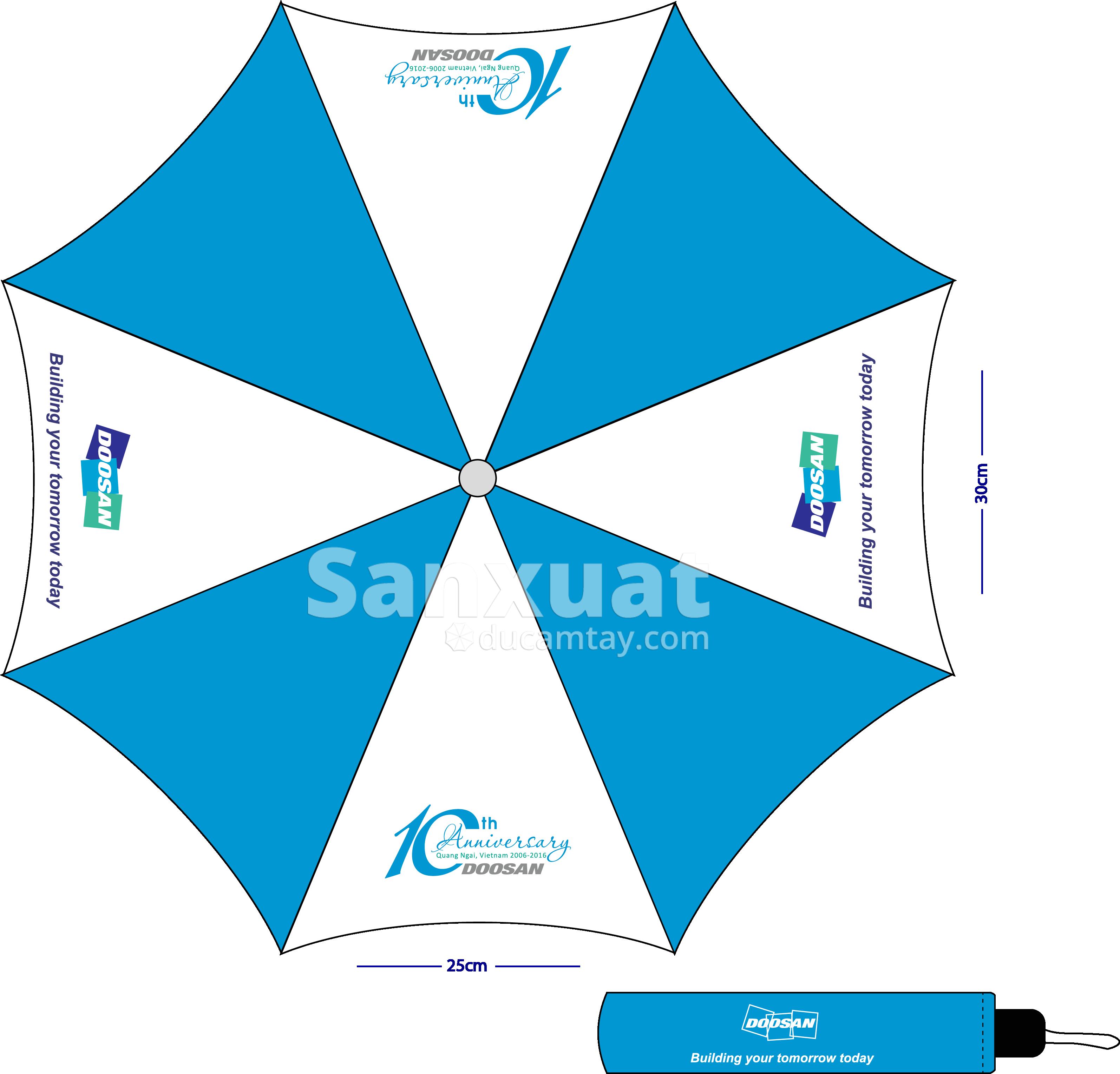 in ô dù cầm tay